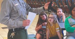 Ekron's 4th graders learn about  littering