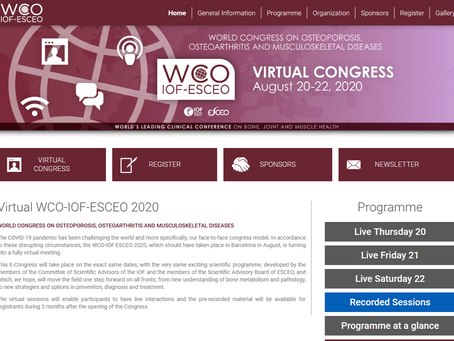World Congress on Osteoporosis 20.-22.8.2020