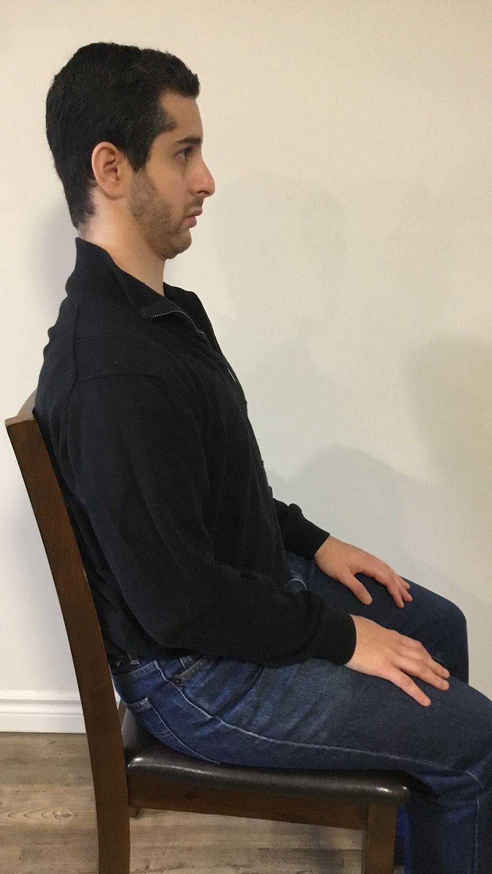 Neck pain, relief, stretch, exercise, headache, posture, suboccipitals, chin tucks