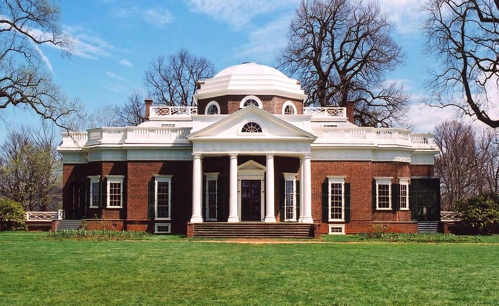 Monticello, Jefferson's Home, Palladian architecture, Andrea palladio, gary paul, classical architecture, Italian villa, classic farm house