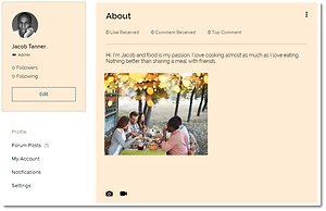 how to add an about me profile page to the raising our tribe parenting community