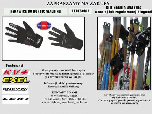 Oferta sprzedaży kijów i akcesoriów do NORDIC WALKING
