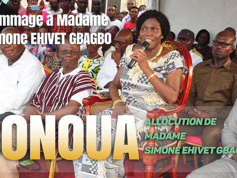 BONOUA : ALLOCUTION DE MADAME SIMONE EHIVET GBAGBO