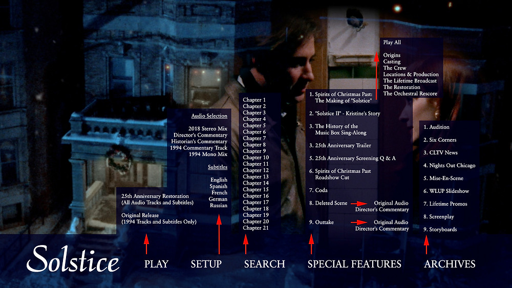 """Solstice"" Blu-Ray Navigation Menu"