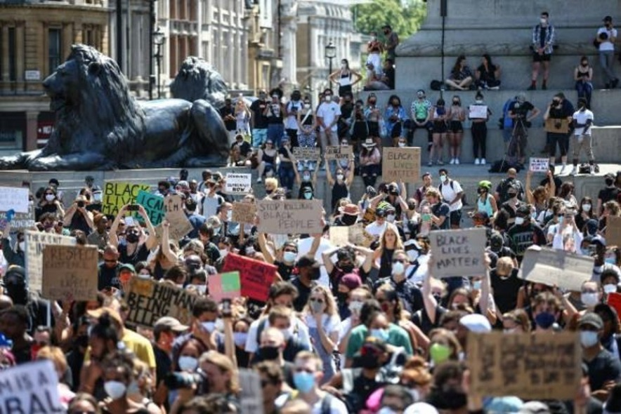 The Black Lives Matter protest as seen in London