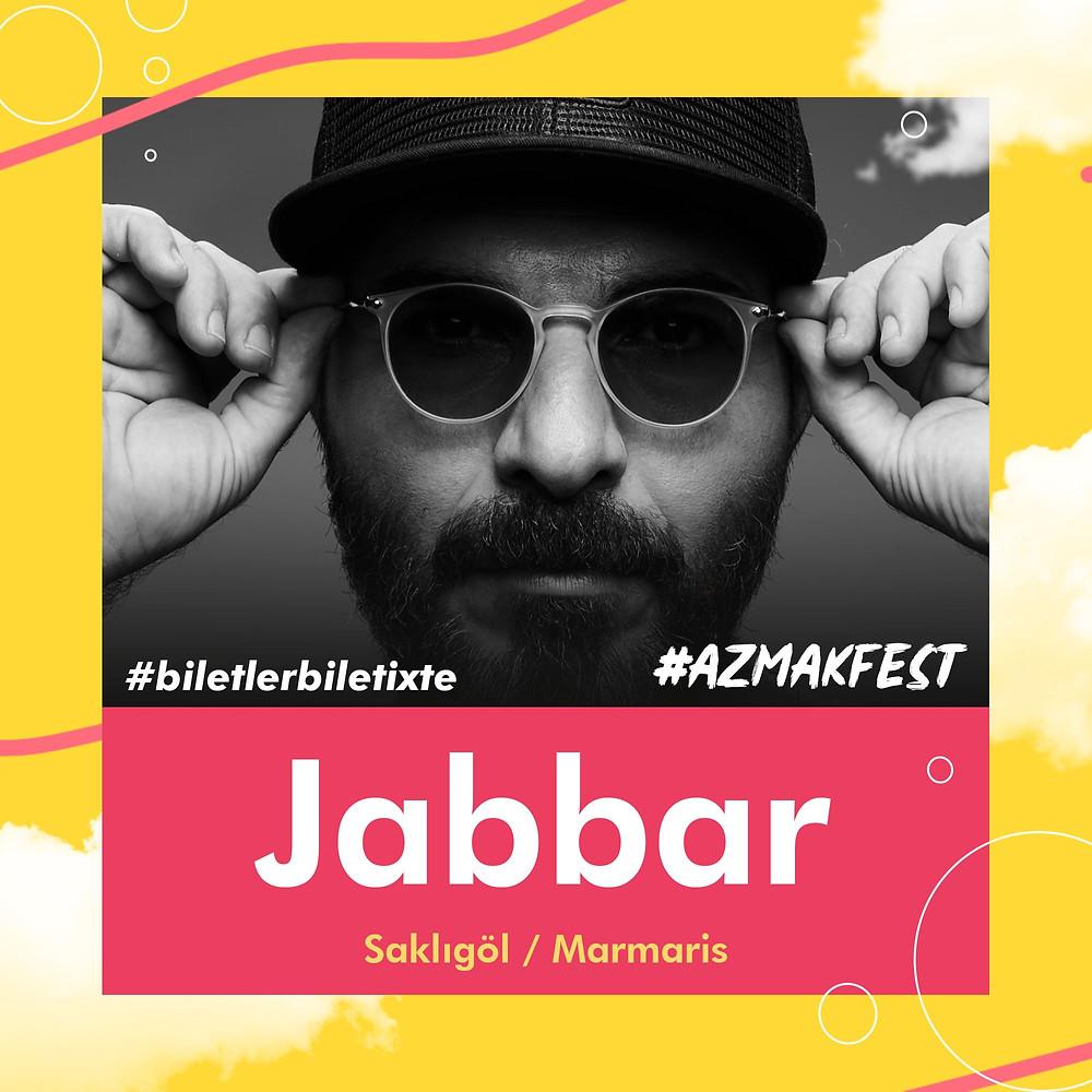 #AzmakFest'te ilk gün Jabbar sahnede.