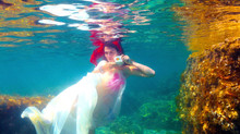 cyprus wedding photographers - underwater wedding photography
