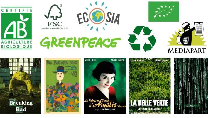 Logos et affiches vert - Studio JL