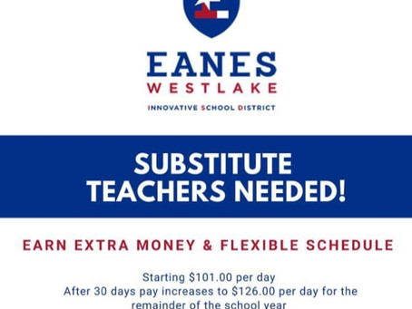 Substitute Teachers Needed !!!