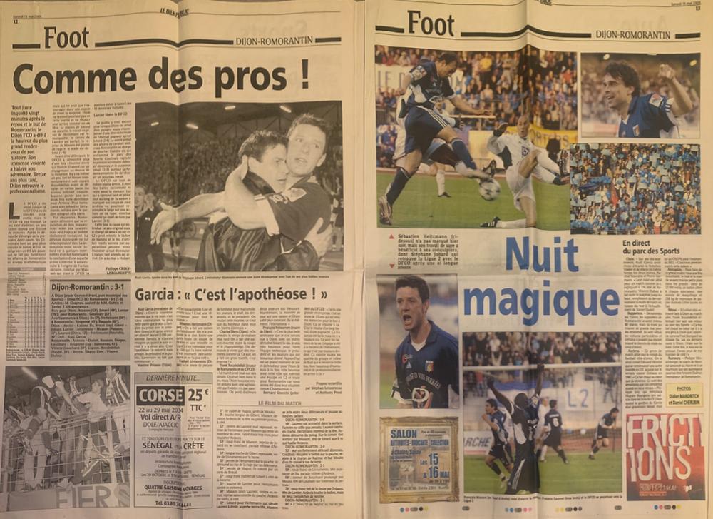 Bien Public DFCO Ligue 2 15 mai 2004