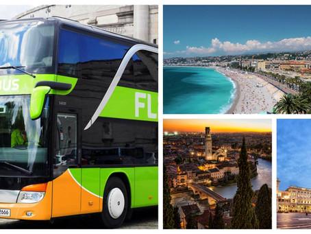 Flixbus: Un pullman che collega tante città è a arriva a 100 metri da noi !!!