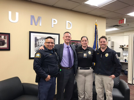 UMPD Chief Clark and NLPOA MN-Chapter members