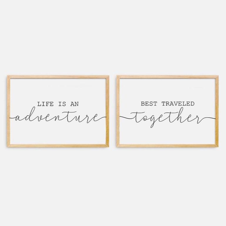 Adventure couple travel quote