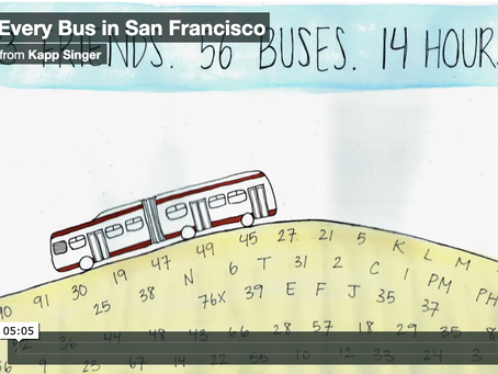 Riding every bus in San Francisco!