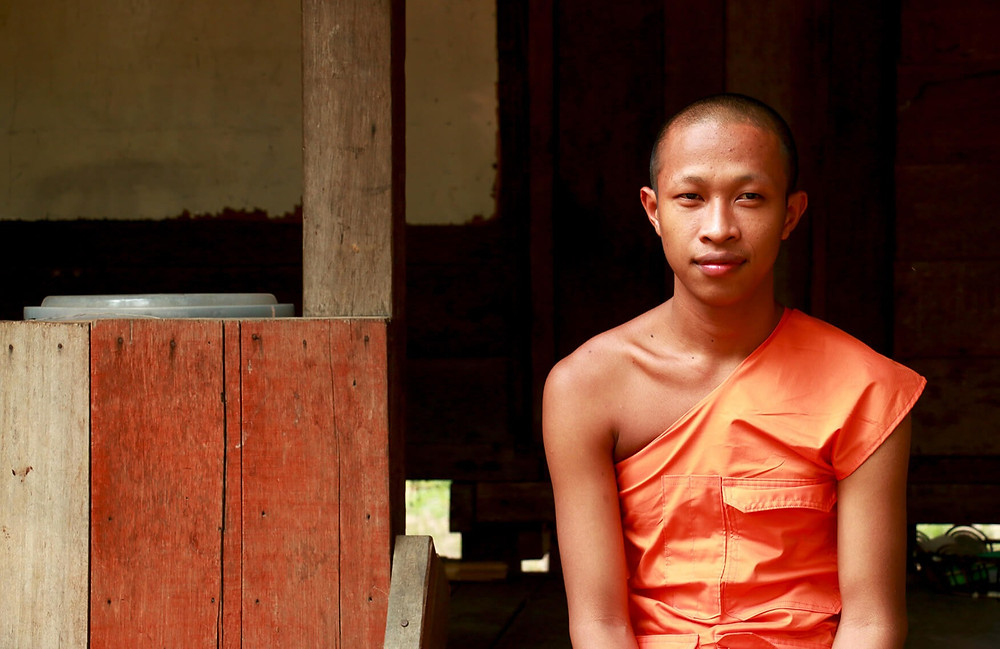 Young buddhist monk student in Cambodia