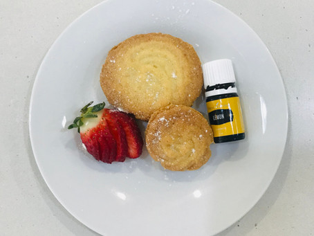 Healthy Melting Moments infused with Lemon Essential Oil!
