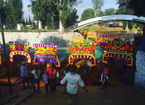 The Famous Canal of Xochimilco