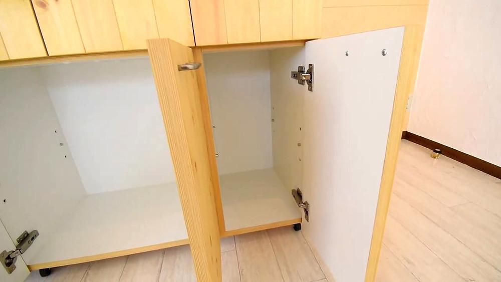 グレイスロイヤルS205号室のおしゃれなキッチンカウンター、収納