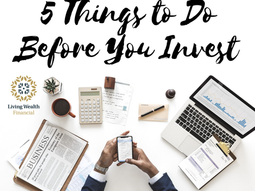 5 Things to Do Before You Invest