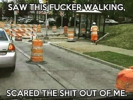 Funny Traffic Cone Meme