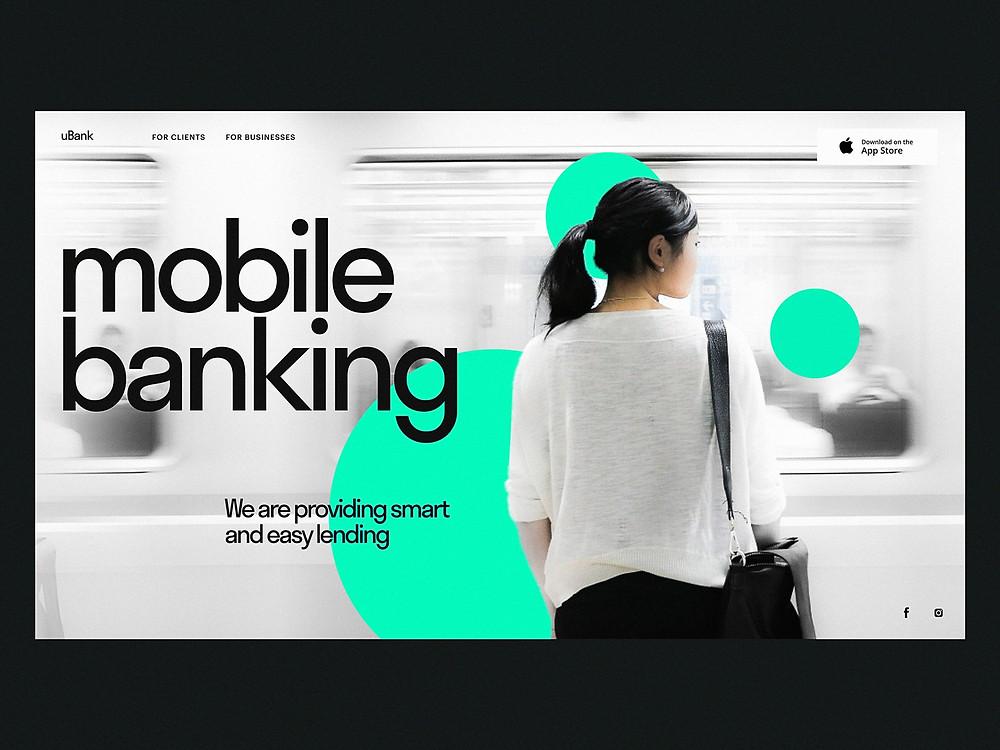 Mobile Banking Landing Page