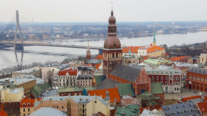 View at Riga from the tower of Saint Peter's Church