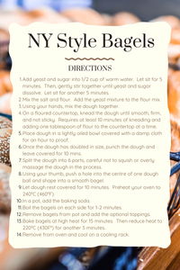 directions NY Style Bagels Instructions