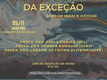 A Estética da Exceção - evento do projeto Hermenêutica com emissão de certificado