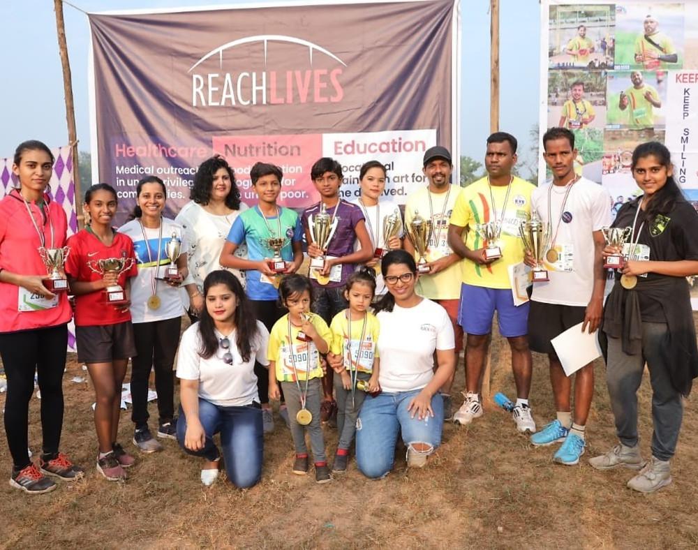 Winners of a marathon