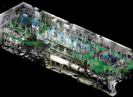 3D scan of the network pumps and pipes critical to the BWT