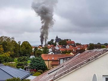 Feuer im Kirchhainer Dörfchen
