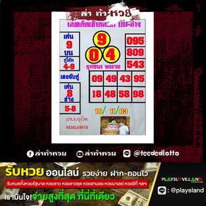 หวยยุทธนาพารวย งวดวันที่ 16/11/63