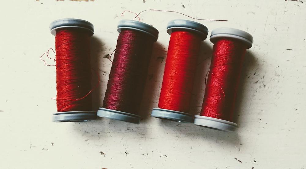 Cherry red threads