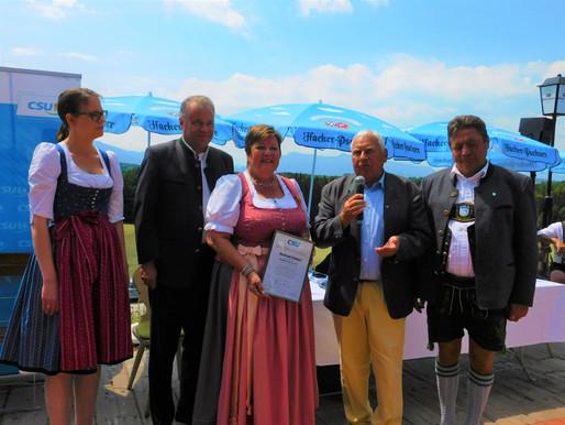 Manfred Frühauf für 50 Jahre CSU-Mitgliedschaft geehrt