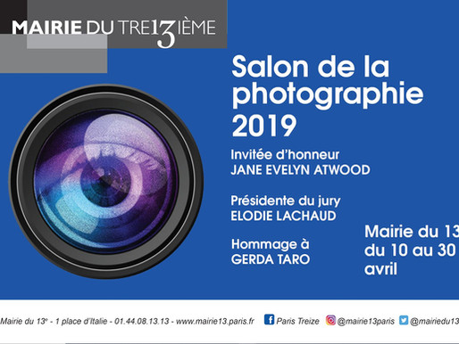 2e Salon de la photographie de la Mairie du 13e, du 10 au 30 avril 2019