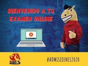 Examen de Admisión 2020. Haz clic a la imagen y accede a tu examen.  ¡Buena Suerte!