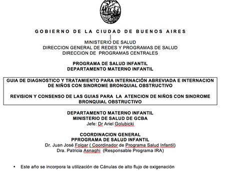 La Ciudad de Buenos Aires incorpora la terapia de alto flujo en las unidades de pediatría.