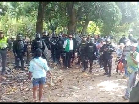 Autoridades desalojaron una invasión en Río Seco