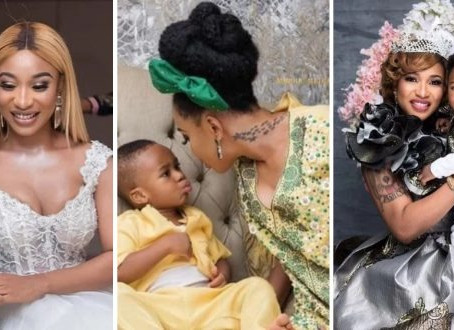 Here Are Some Beautiful Photos Of Tonto Dikeh And Her Adorable Son, King Andre