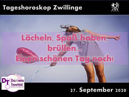 Tageshoroskop Zwillinge 27.09.2020
