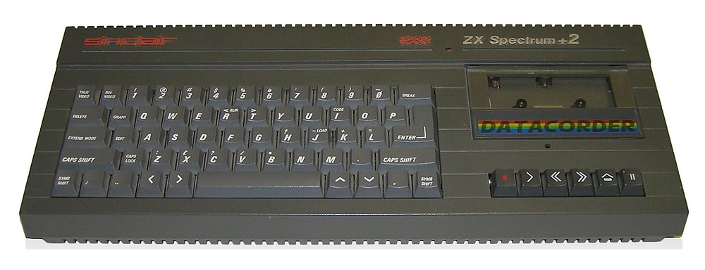 Sinclair ZX Spectrum +2 128K with integral tape deck