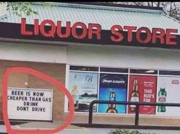 Funny Liquor Store Sign
