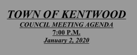 January 2, 2020 Meeting Agenda