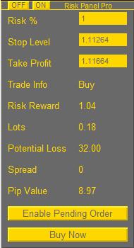 Risk Panel Pro EA MT4 MT5 | Eaproducer.com