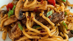 美極蘑菇牛柳炒拉麵