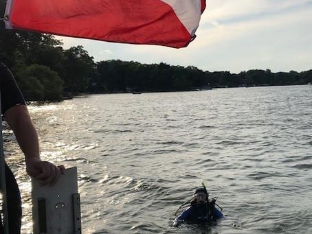 Okauchee Dive 7/18/18 w/ 2 newbies to crew