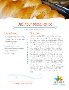 Mamas Living Happy One Hour Bread Recipe