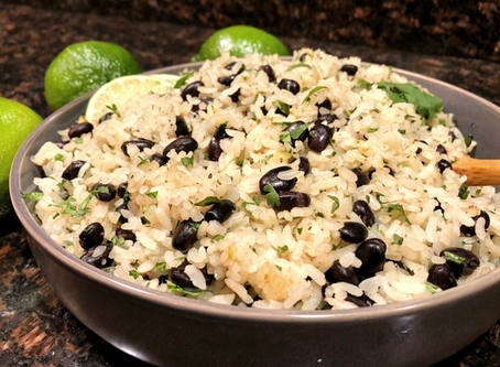 Rice Cooker Cumin Rice with Black Beans