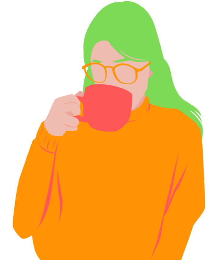 Girl, Coffee, Graphic, Woman