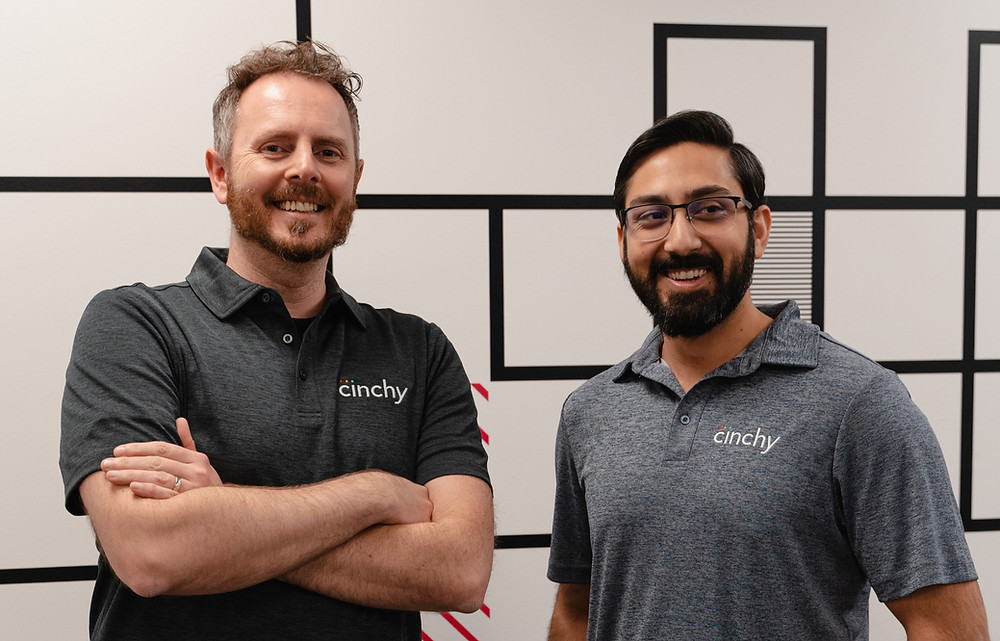 Co-founders Dan DeMers (CEO) and Karanjot Jaswal (CTO) feel elated as Cinchy leading autonomous data fabric technology receives Series A funding